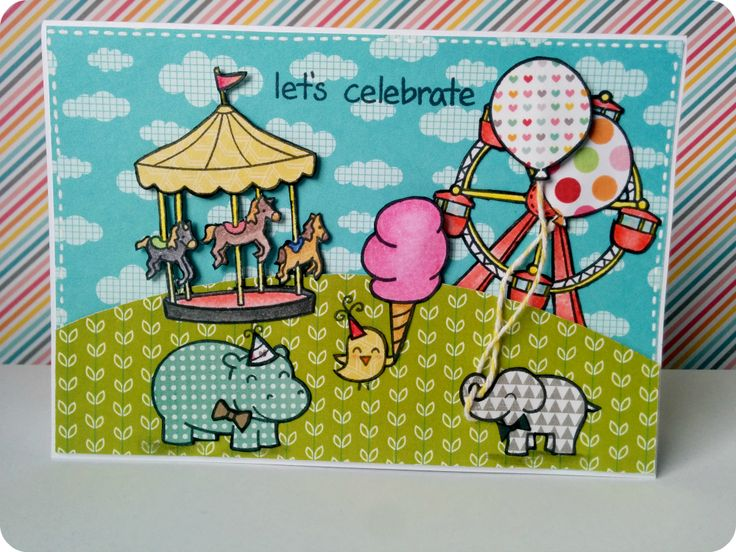 Miss Papeles: lawnscaping challenge 100th #lawnfawn #card #scrapbook #tarjeta #challenge
