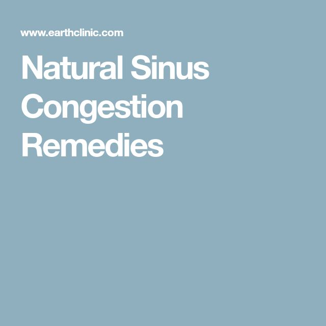 Natural Sinus Congestion Remedies