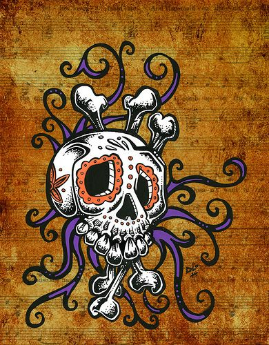 Day of the Dead Art -- Sugar Skull Song by David Lozeau by David Lozeau, via Flickr