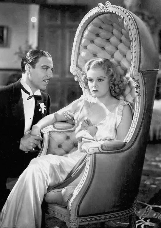 "summers-in-hollywood: ""Jean Harlow and Joseph Calleia in a scene from Riff Raff, 1936 """