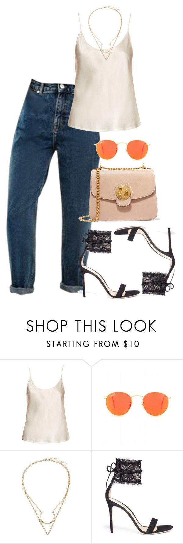 """""""Sun"""" by fashion-is-my-passion-14 on Polyvore featuring La Perla, Ray-Ban, Gianvito Rossi and Chloé"""