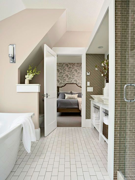 I don't love this bathroom, but I love how wide and simple the millwork is.