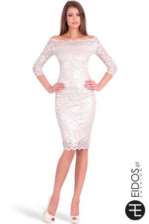 Lekko błyszcząca sukienka #koronka na #wesele