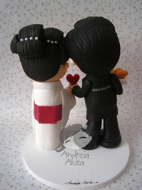 Cake Art Quito : 17 Best images about Wedding cake topper - w/ pets on ...
