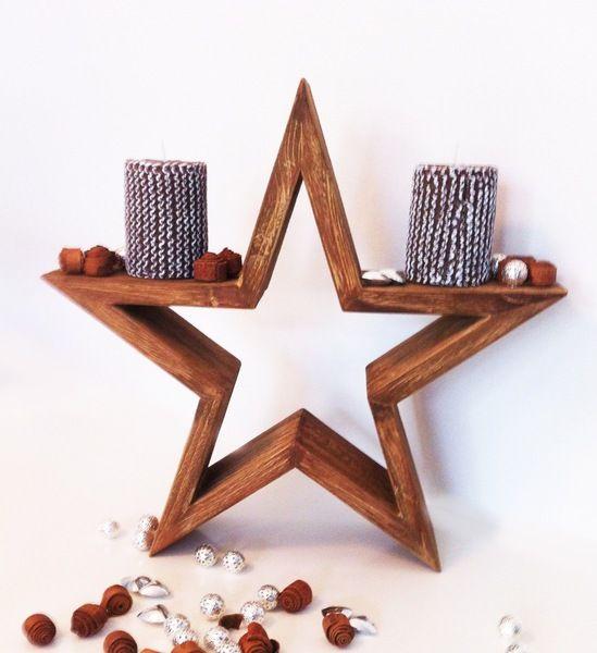 Weihnachtsdeko - Holzstern - XL - ein Designerstück von EuliundCo bei DaWanda