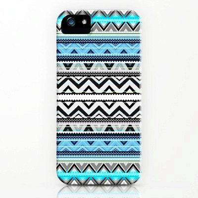Cute Blue Stripe iPhone 5 Case for Girls