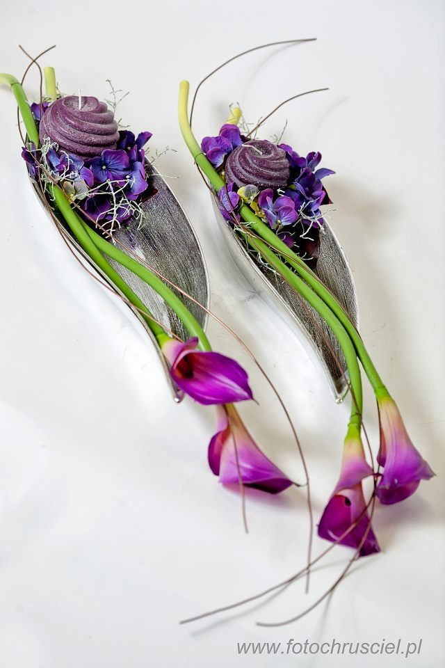 ภเгคк ค๓๏. Purple calla lily arrangement