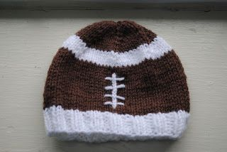 The Underground Hooker: Baby Football Hat - free pattern