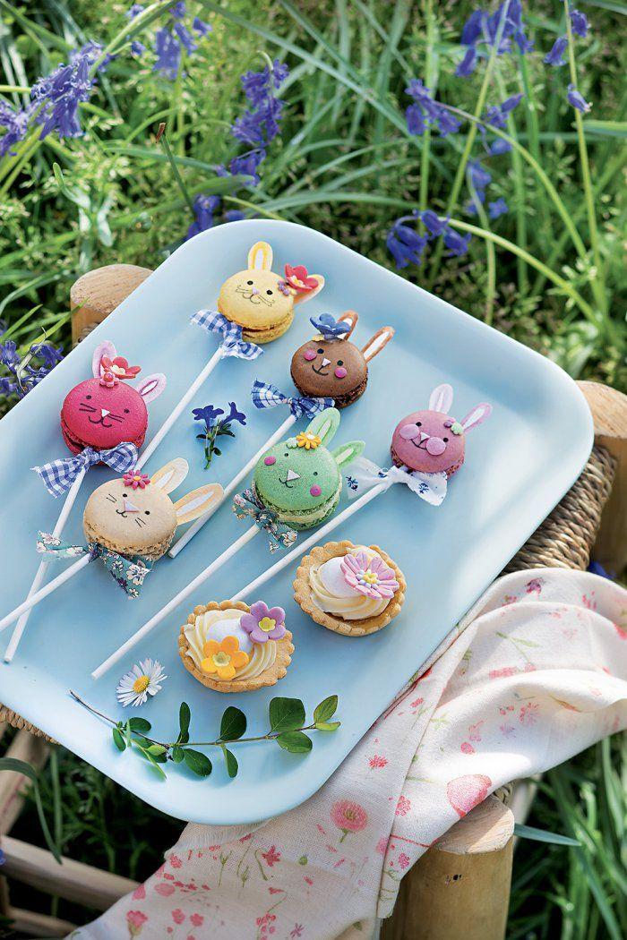 DIY food : des macarons colorés pour Pâques - Easter recipes - Marie Claire Idées