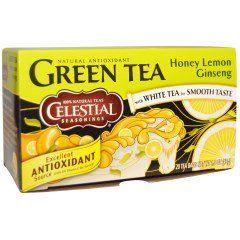 Celestial Seasonings, Зеленый чай, мед, лимон и имбирь, 20 пакетиков, 1.4 унции (42 г)