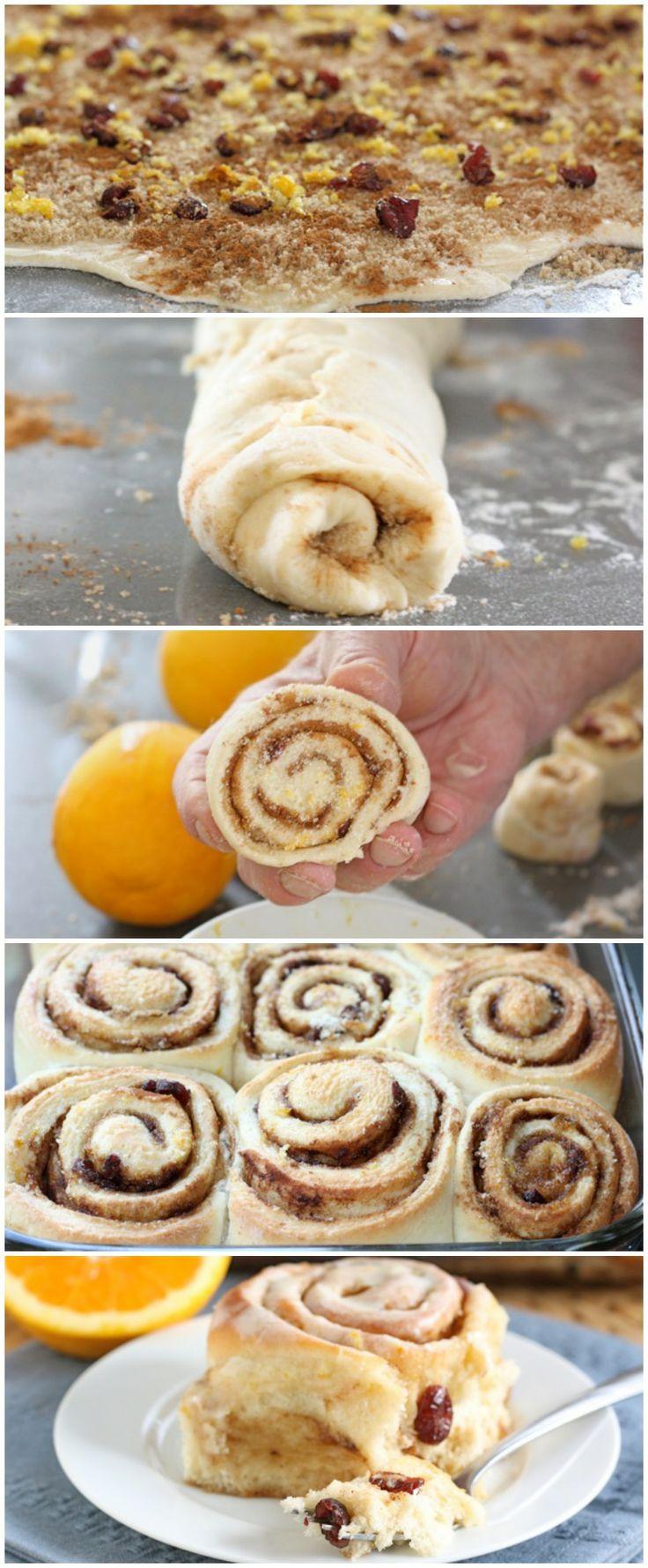 Cranberry Orange Cinnamon Roll Recipe on twopeasandtheirpod.com The perfect cinnamon rolls for the holidays!