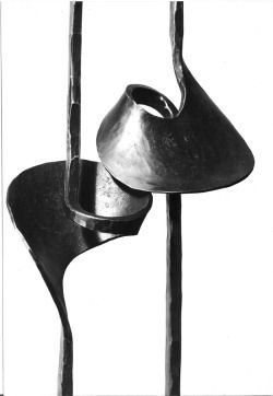 From Paul Zimmermann, the man who helped to define modern forgework. This design is viewed by many to represent a turning point in the medium and a movement towards contemporary forms. http://www.atelierzimmermann.com/