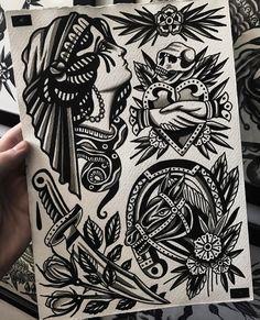Beste Old School Tattoo-Ideen. Wir haben eine Fotogalerie mit coolen und bedeutenden …   – Tattoo