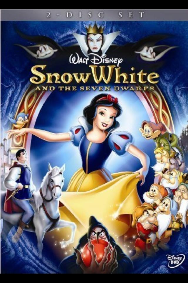 I love Snow White And The Seven Dwarfs. Snow White is my favorite Disney Princess