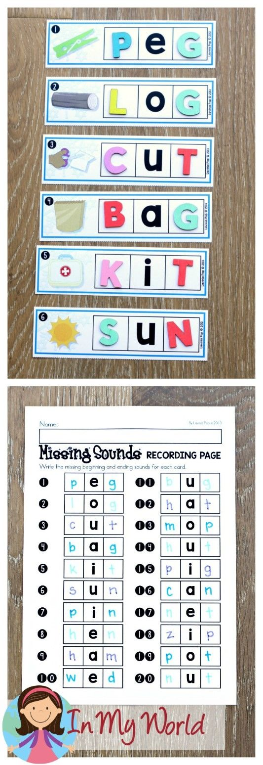 FREE Winter Literacy Centers for Kindergarten. Beginning and ending sounds word work for CVC words.