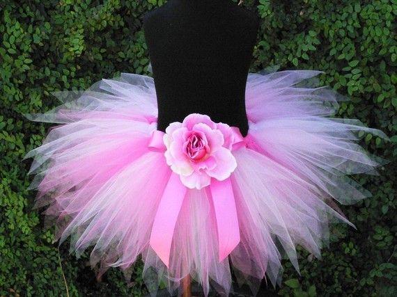 Girls Tutu Skirt - Pink Tutu - Baby Tutu - Pink Powder Pixie - 11'' Sewn Pixie Tutu - newborn to 5T - Girls 1st Birthday Tutu. $30.00, via Etsy.
