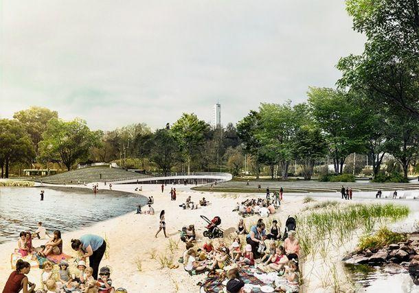 COBE og to finske firmaer har udarbejdet en byplan, der skal give nyt liv til området Töölönlahti, ellers vil det inden længe ende som en sump.