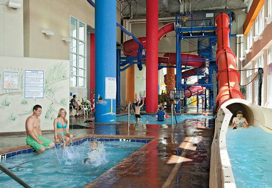 Dunes Village Resort: Indoor water park in the hotel in Myrtle Beach