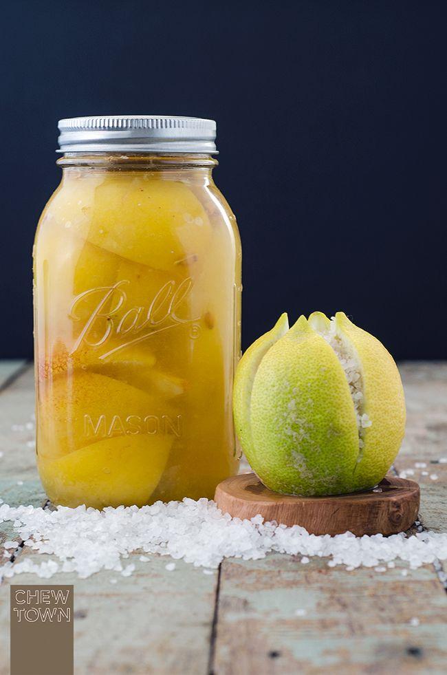 Preserved Lemons Recipe | Chew Town Food Blog