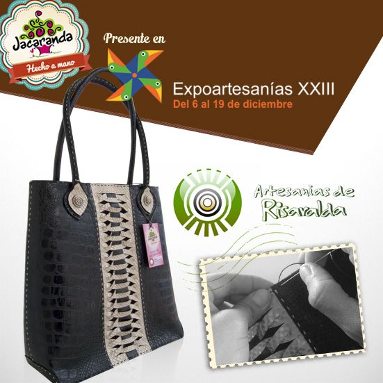 BIJAO: bolso Jacaranda, en cuero, hecho a mano. #bags #bolsos