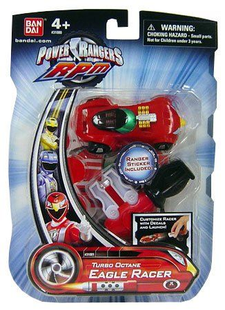 Amazon.com : Power Rangers RPM Turbo Octane Zord Red Eagle Racer : Toy Figures : Toys & Games