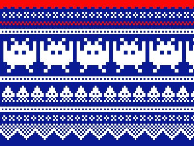 Love the idea of a hat or a sweater with this pattern...