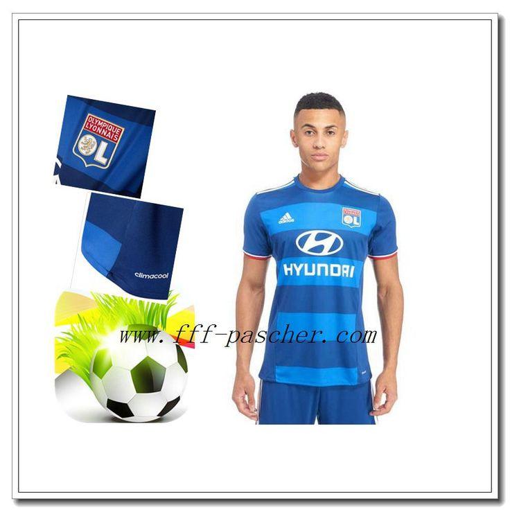 Le Nouveaux Maillot Officiel Lyon OL Exterieur Bleu 2016 2017