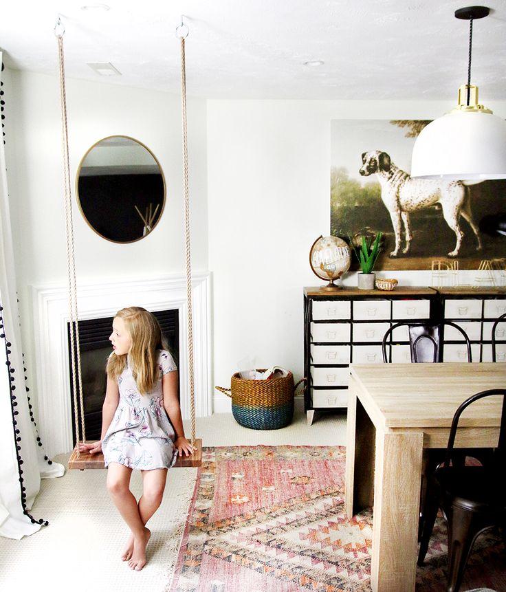Best 25 indoor swing ideas on pinterest for Diy indoor swing chair