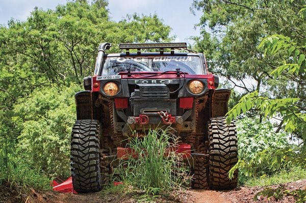 The RFC-winning Force Gurkha is a tremendously capable vehicle. Selvin Jose tosses it about.