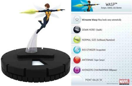 Wasp #004 Marvel Chaos War Fast Forces Singles Heroclix - Chaos War Fast Forces - HeroClix - Miniatures