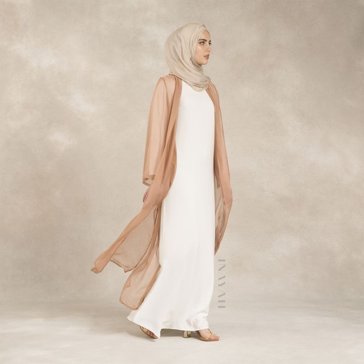 INAYAH | Pure Silk Blush #Kimono + White Long Crepe #Dress #inayahclothing #modeststyle #modesty #modestfashion #hijabfashion #hijabi #hijabifashion #covered #Hijab #jacket #midi #dress #dresses #islamicfashion #modestfashion #modesty #modeststreestfashion #hijabfashion #modeststreetstyle #modestclothing #modestwear #ootd #cardigan #springfashion #INAYAH #covereddresses #scarves #hijab #style