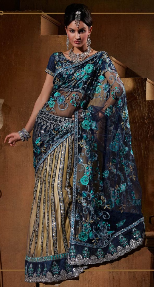 Grandiose Flora Embroidered Lehenga Saree