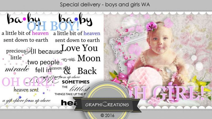 Special delivery boys&girls WA by Graphic Creations