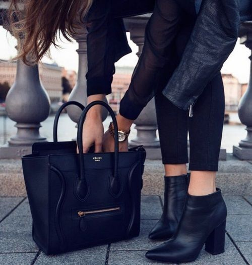 Black dress ankle boots injury