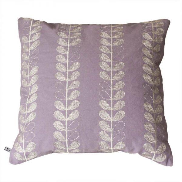 Linnea-tyynynpäällinen, kirjottu, laventeli