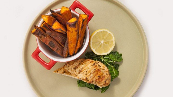 Cajun Chicken with Spicy Sweet Potato Chips