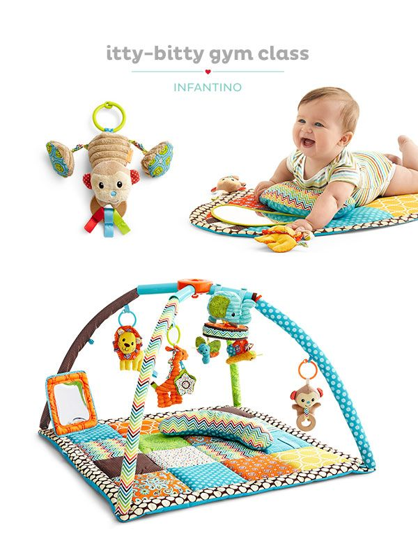 Filled with plush toys, Infantino activity gyms offer fun adventures for Baby.