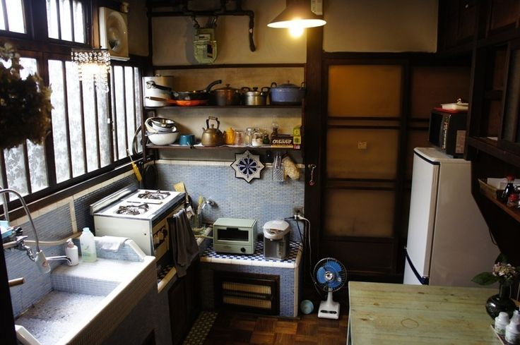 Love the homeliness of this authentic Japanese kitchen