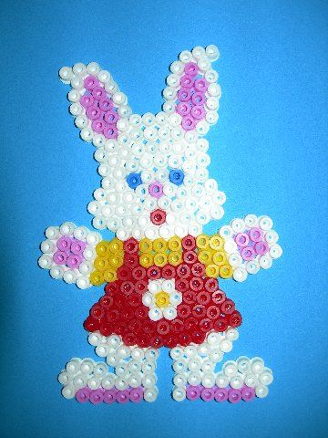 Easter rabbit hama perler beads