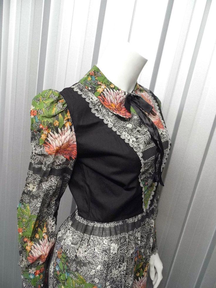 Vintage 70s DOLLYROCKERS Maxi Dress Prairie Dress by ZeusVintage