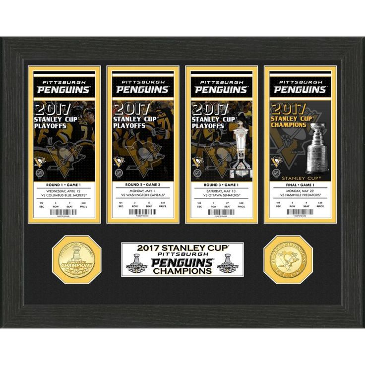 Highland Mint 2017 Stanley Cup Champions Pittsburgh Penguins Ticket Collection, Team