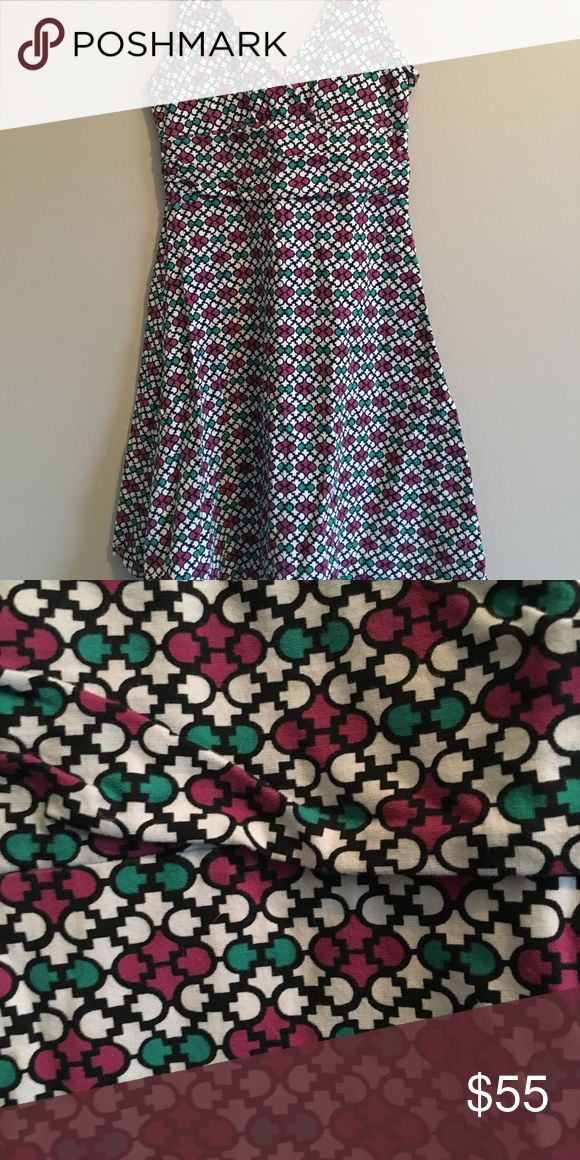 Patagonia Dress Beautiful printed blue and pink Patagonia dress. Cinched at the waist. Worn once. Patagonia Dresses