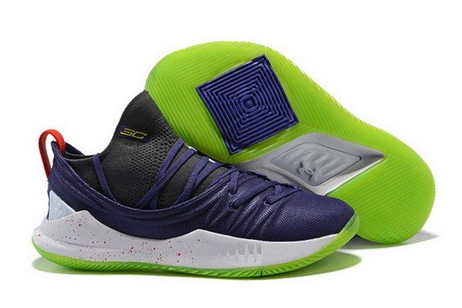 san francisco 73bb7 3316b UA Curry 5 Navy Blue Black-Red-Volt For Sale