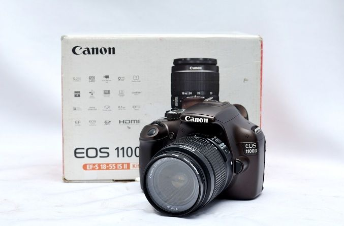 Jual Kamera DSLR Bekas – Canon EOS 1100D Fullset: Kamera DSLR Bekas – Canon EOS 1100D Fullset Harga: Rp. 2.750.000,- (Ready Stok) Lensa…