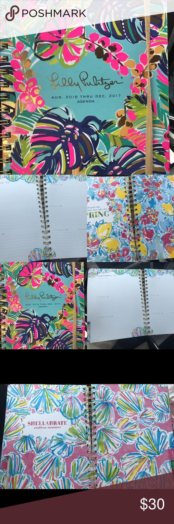 Lily Pulitzer agenda planner NEW! New ! Lily Pulitzer agenda goes to 12/31/17 includes notes sections, contacts, daily, weekly monthly and more ! Accessories