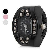 Mujer+Japonés+Cuarzo+La+imitación+de+diamante+Banda+Destello+Negro+Blanco+Rosa+Blanco+Negro+Rosa+–+EUR+€+2.93
