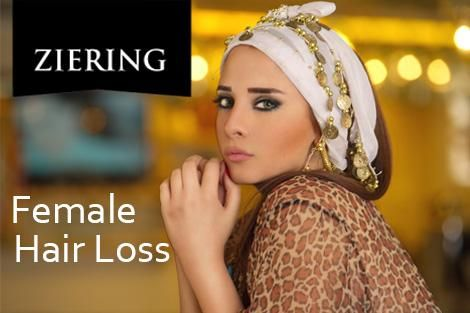 Women suffer hair loss for many reasons - the good news is female hair loss can be successfully treated by Ziering!