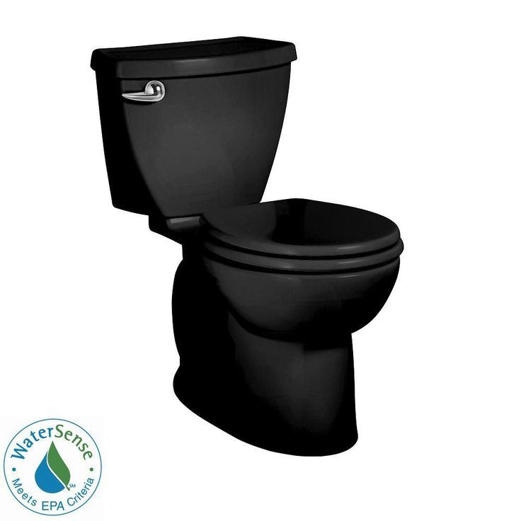 Imagine this black toilet next to white subway tile! This toilet isn't just good-looking, though. Its flushing system ensures a powerful flush and superior bowl cleaning using 20 percent less water than older toilets. The EverClean surface stays cleaner, longer, too.
