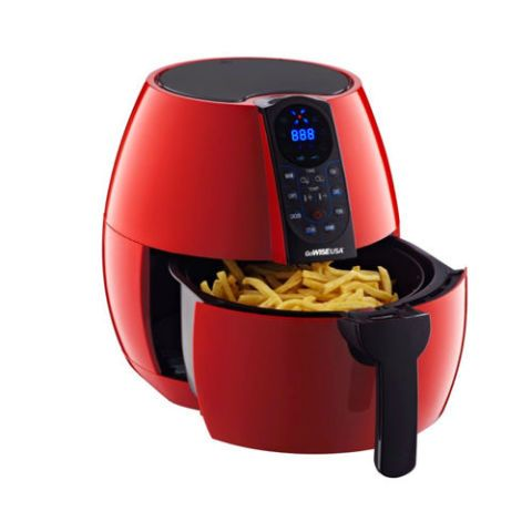 $80 BUY NOW  Best for Air-Frying Without Breaking the Bank  First off, this air fryer just looks hot AF in chili red, but more importantly we loved the super affordable price and the fact that it came with 8 cooking presets like warm up, chicken, steak, meat, fish, and cake. CAKE! GoWise or go home. 🍟  More: The 10 Best Deep Fryers if You Just Can't Help Yourself