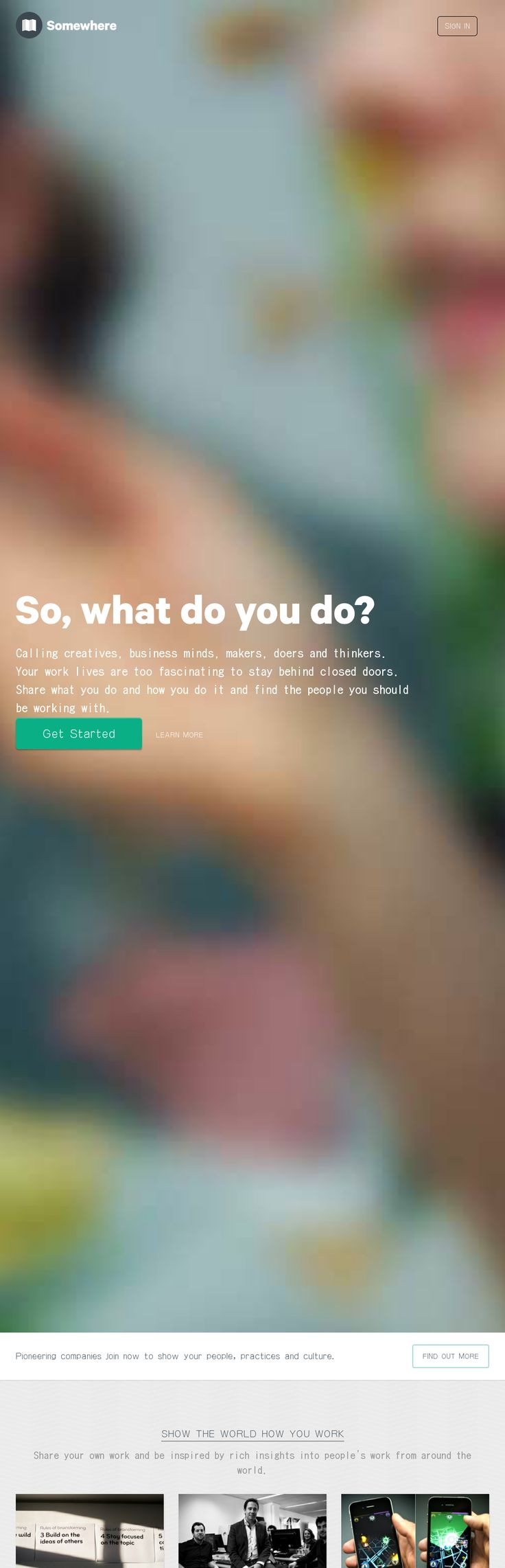 Flat web design with blurred background image. Nice design! Web Design #WebDesign #design #UI #UX #identity #website #SiteDesign #awesome #UserInterface #communication #VisualCommunication